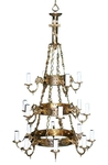 Three-level chandelier (khoros) - 3 (18 lights)