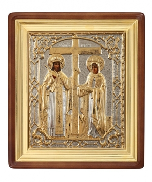 Religious icons: Stt. Equal-to-the-Apostles Emperor Constantine and his mother Helen - 2