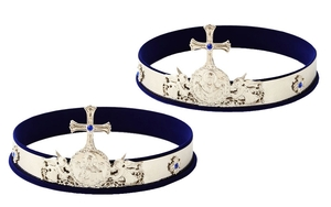 Greek wedding crowns no.4a