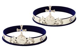 Greek wedding crowns no.4a