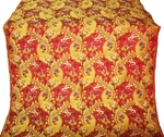 Majestic Garden metallic brocade (red/gold)
