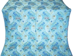 Majestic Garden metallic brocade (blue/silver)