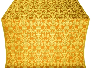 Peacocks metallic brocade (yellow/gold)