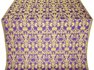 Peacocks metallic brocade (violet/gold)