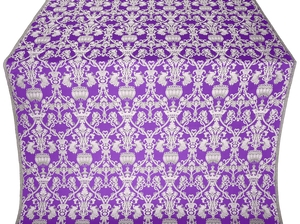 Peacocks metallic brocade (violet/silver)