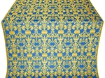 Peacocks silk (rayon brocade) (blue/gold)
