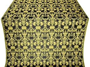 Peacocks silk (rayon brocade) (black/gold)