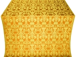 Peacocks silk (rayon brocade) (yellow/gold)