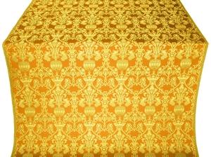 Peacocks silk (rayon brocade) (yellow/gold)