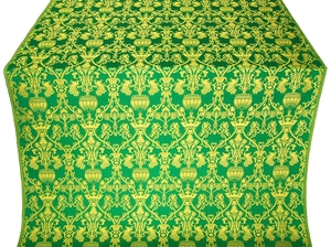 Peacocks silk (rayon brocade) (green/gold)