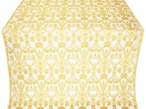 Peacocks silk (rayon brocade) (white/gold)