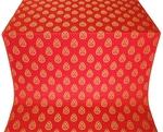 Doubna metallic brocade (red/gold)