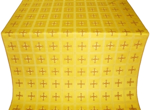 Uzhgorod silk (rayon brocade) (yellow/gold with claret)