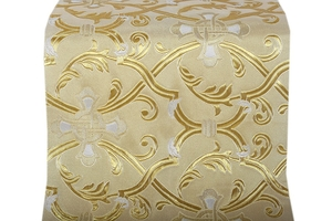Forged Cross metallic brocade (white/gold with silver)