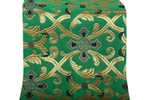 Forged Cross metallic brocade (green/gold)