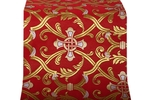 Forged Cross metallic brocade (red/gold)