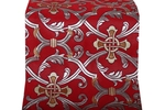 Forged Cross metallic brocade (red/silver)