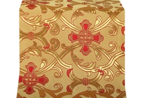 Forged Cross metallic brocade (yellow/gold with red)