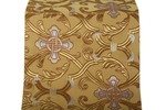 Forged Cross metallic brocade (yellow/gold with silver and red)