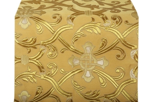 Forged Cross metallic brocade (yellow/gold with silver and gold)