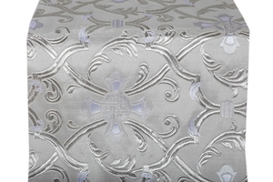 Forged Cross metallic brocade (white/silver)