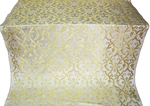 Forged Cross metallic brocade (white/gold)