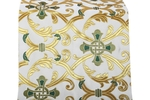 Forged Cross metallic brocade (white/gold with green)