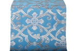 Forged Cross metallic brocade (blue/silver)