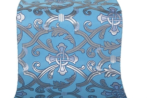 Forged Cross metallic brocade (blue/silver with blue)