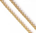 Pectoral cross chain Small Peas (gold-gilding)