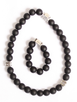 Orthodox prayer rope set (30 + 10 knots) - Shungite
