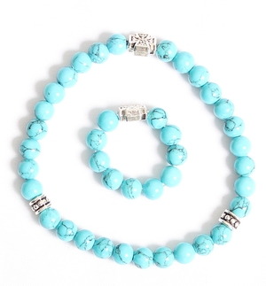 Orthodox prayer rope set (30 + 10 knots) - Turquoise