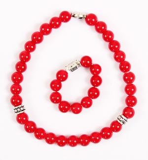 Orthodox prayer rope set (30 + 10 knots) - Red agate