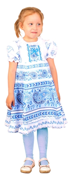 Gzhel girl dress