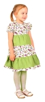 Meadow girl dress (green)
