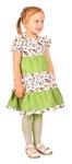 Meadow girl dress (green)