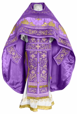 Embroidered Russian Priest vestments - Iris (violet-gold)