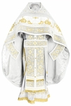 Embroidered Russian Priest vestments - Iris (white-gold)