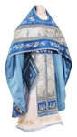 Embroidered Russian Priest vestments - Chrysanthemum (blue-gold)