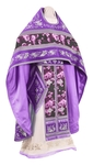 Embroidered Russian Priest vestments - Chrysanthemum (violet-silver)