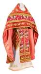 Embroidered Russian Priest vestments - Chrysanthemum (red-gold)