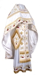 Embroidered Russian Priest vestments - Chrysanthemum (white-gold)