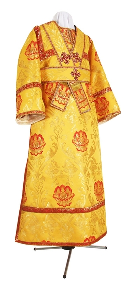 Subdeacon vestments - rayon brocade S4 (yellow/gold with red)