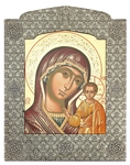 Icon: The Most Holy Theotokos of Kazan' - 12