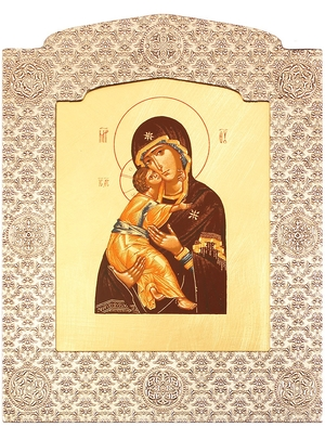 Icon: The Most Holy Theotokos of Vladimir - 12