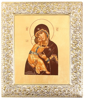 Icon: The Most Holy Theotokos of Vladimir - 13