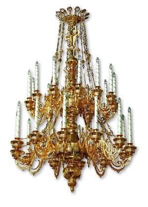 Two-level church chandelier - 24 (24 lights)