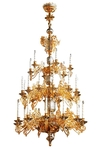 Three-level church chandelier - 7 (30 lights)