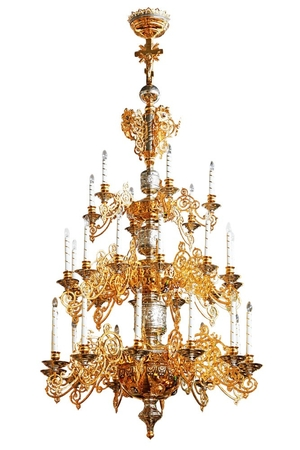 Three-level church chandelier - 7 (30 lights)