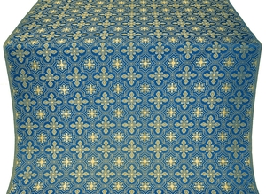 Rus' metallic brocade (blue/gold)